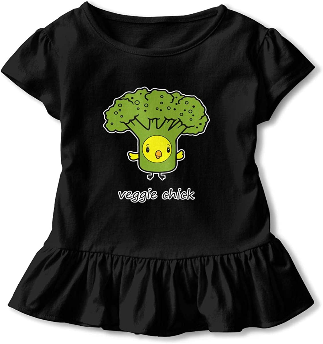 Veggie Chick Baby Flounces Skirts Kids Fashion T Shirt Dress Breathable Outfits
