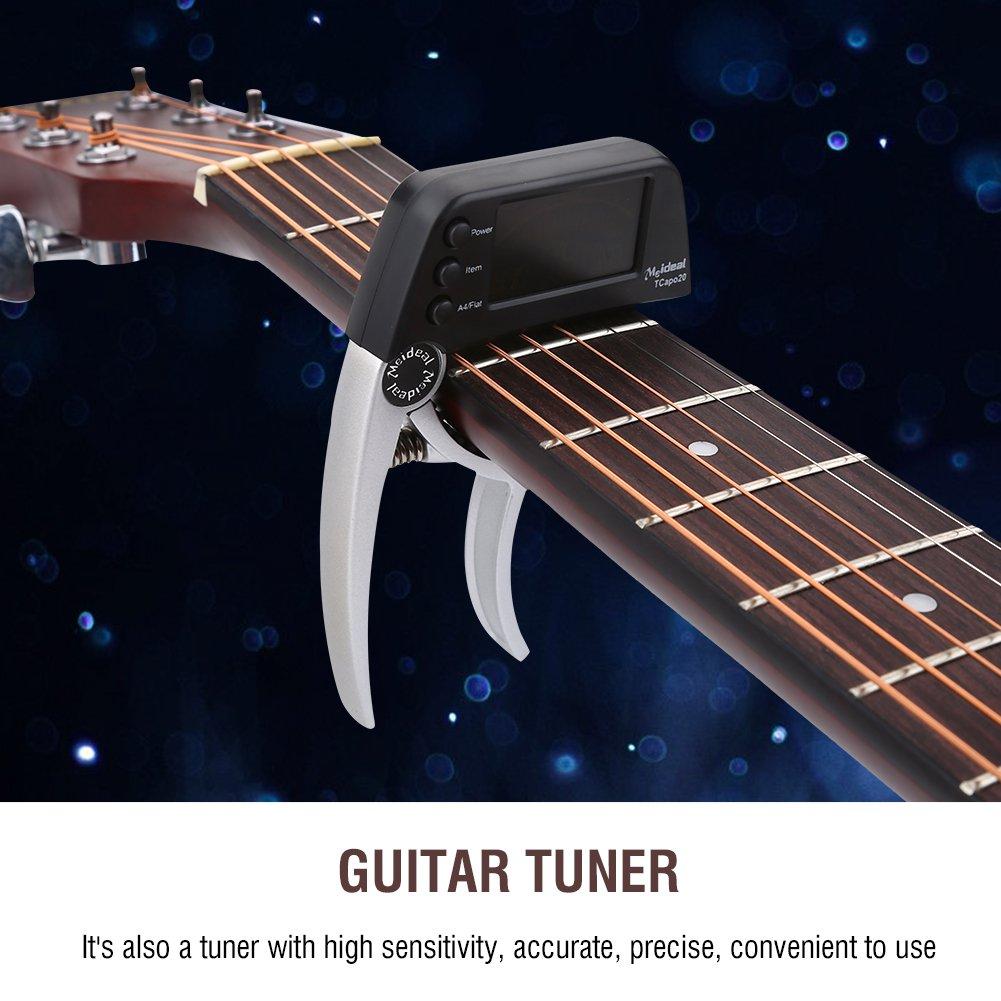 Cejilla de guitarra, una sola mano, cambio rápido, para guitarra eléctrica acústica: Amazon.es: Instrumentos musicales