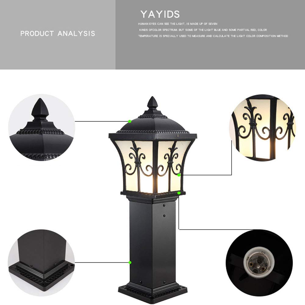 European Outdoor Waterproof Lawn Light, Garden Light/Wall Light/Garden Light/Landscape Light (Color : Black 80) by Outdoor lighting (Image #2)