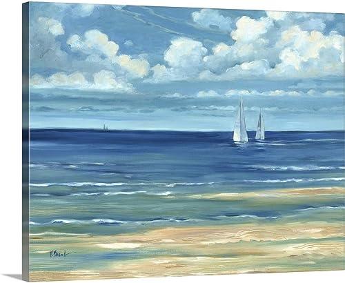 Summerset Sailboats Canvas Wall Art Print