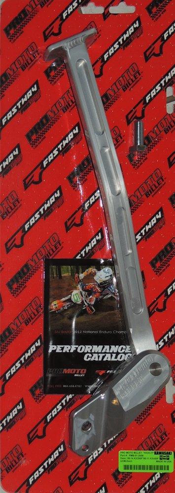 Pro Moto Billet PMB-01-2008 Silver Kick-It Kickstand
