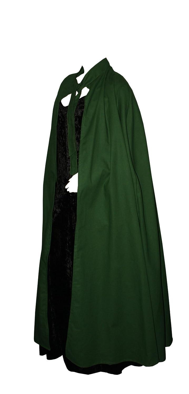 Kreativwunderwelt Umhang aus schwerer Baumwolle - 150cm - grün - ohne Kapuze