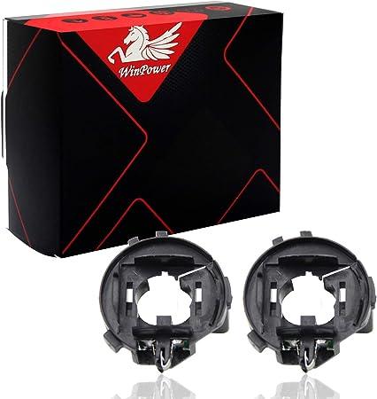 Winpower H7 Hid Xenon Lampensockel Clips Adapter Halter Support Sockel Zubehör Für Tiguan Golf 6 7 Scirocco Sharan Touran 2 Stück Auto