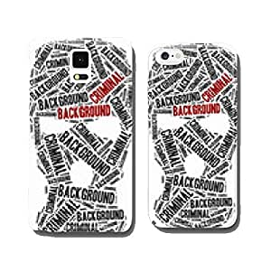 Criminal background check. Word cloud illustration. cell phone cover case iPhone6 Plus