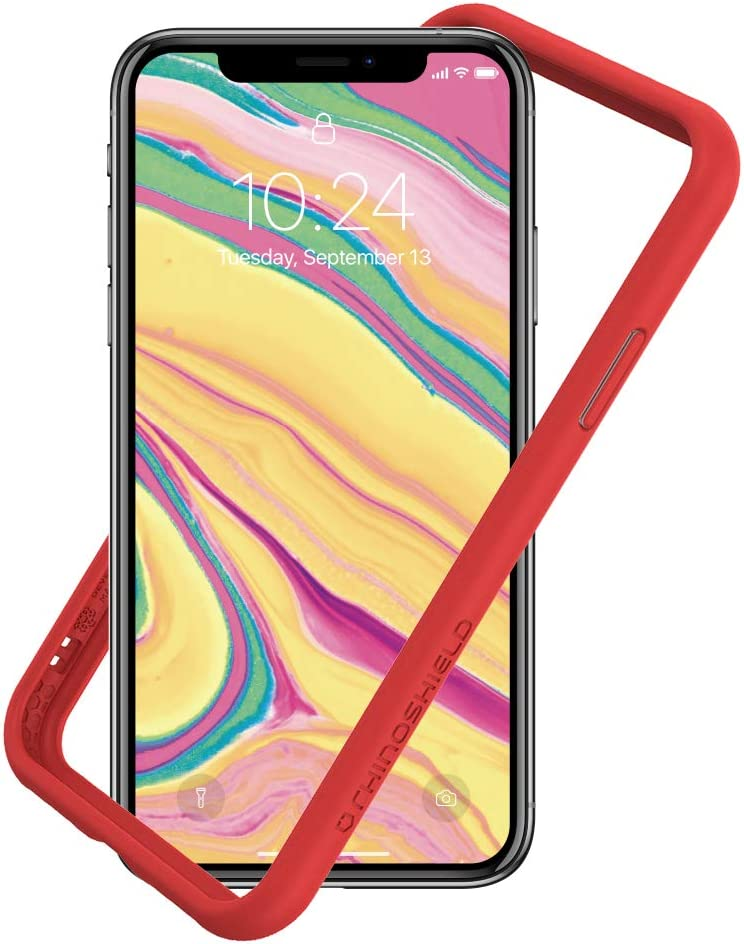 Amazon Com Rhinoshield Ultra Protective Bumper Case Compatible With Iphone Xs Max Crashguard Nx Military Grade Drop Protection Against Full Impact Slim Scratch Resistant Red