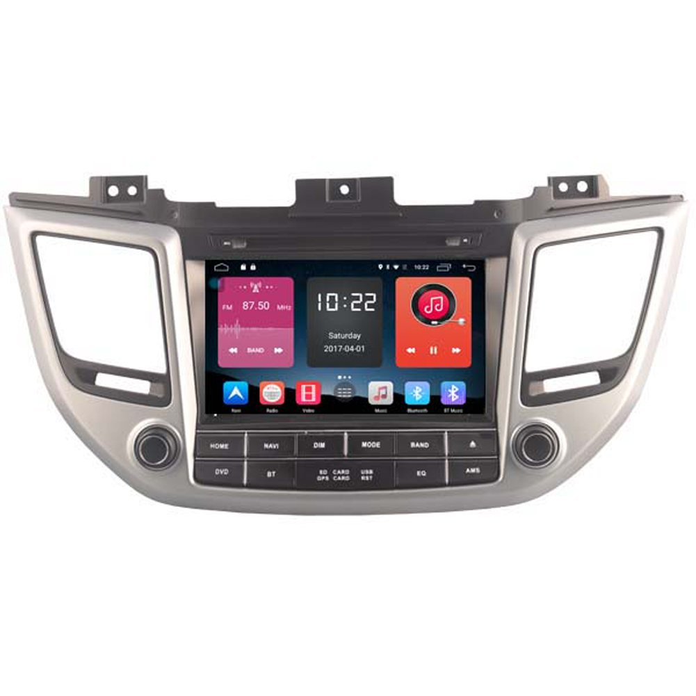 Autosion In Dash Android 6.0 Car DVD Player Sat Nav Radio Head Unit GPS Navigation Stereo for Hyundai Tucson ix35 2015 2016 2017 Support Bluetooth SD USB Radio OBD WIFI DVR 1080P