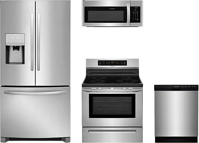 Amazon.com: Frigidaire 4 piezas cocina acero inoxidable ...