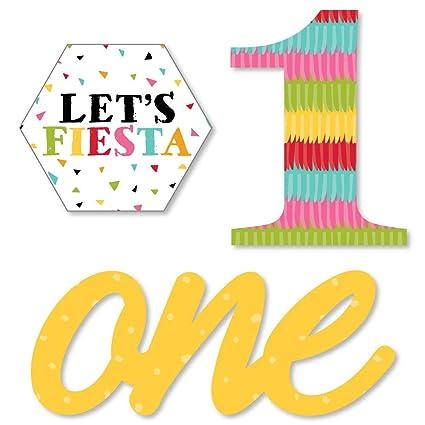 Amazon.com: Fiesta de primer cumpleaños con forma de Fiesta ...