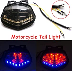 Motorcycle Turn Signal Tail Light Brake Integrated Light Rear LED Taillights For Kawasaki Ninja 250 Ninja 250R 2008-2012