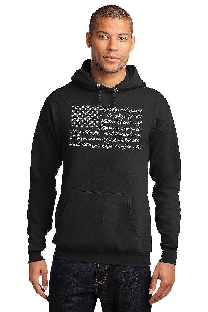 Comical Shirt Mens Pledge of Allegiance American Flag Hoodie