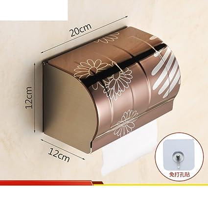 GJY Wcp Caja de Pañuelos Desechables/Bandeja de Inodoro/Portapapel Higiénico/Papel Higiénico