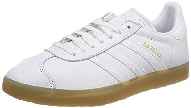 size 40 8e32d e7c29 Image Unavailable. Image not available for. Color  adidas Mens Gazelle  Leather Cloud White Gum Trainers ...