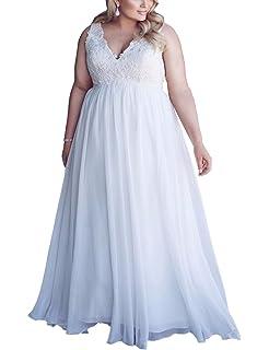2c248a98aa8f Mulanbridal Chiffon Applique Beach Wedding Dress Long Formal Prom Evening  Gown