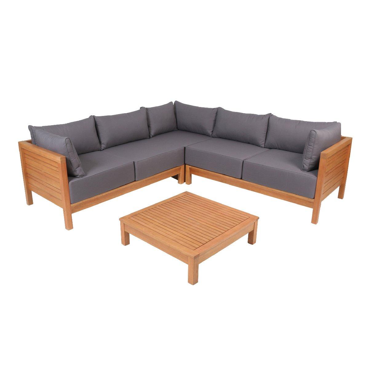 Amazon.de: greemotion 128640 Lounge Set GOA-Loungemöbel aus Akazien ...