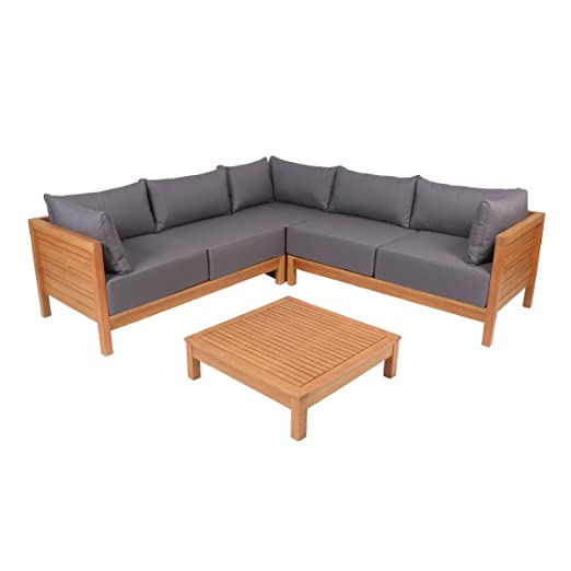 Amazon De Greemotion 128640 Lounge Set Goa Loungemobel Aus Akazien