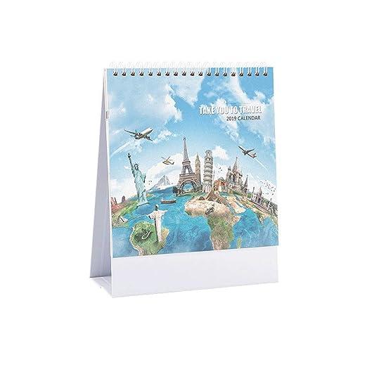 Calendarios 2019 Calendarios de Mesa DIY Planificador Diario ...