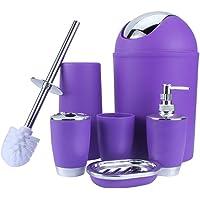 zerone Freefisher–Conjunto de accesorios de baño–Papelera, cepillo