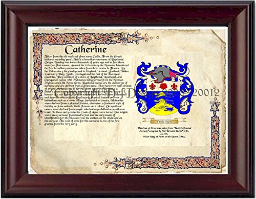 (Catherine Coat of Arms/ Family Crest on Fine Paper and Family History)