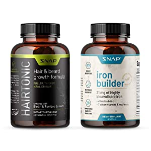 Hair Growth + Iron Blood Builder Bundle (2 Products)