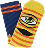 Toy Machine Skateboards Sect Eye Stripe Yellow / Navy / Orange Crew Socks