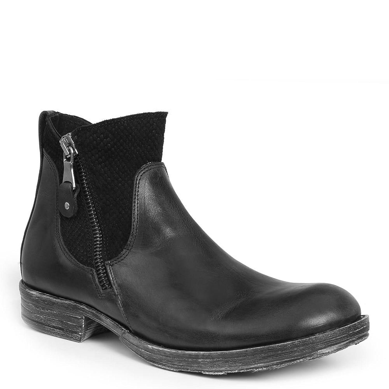 GBX Men's Tacks Double Zipper Fashion Boots, Black, Leather, Suede, Rubber, 13 M