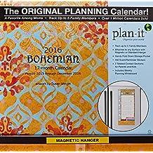 Bohemian Plan-it Plus 2016 Calendar: 17-Month, 442 Event/Reminder Stickers