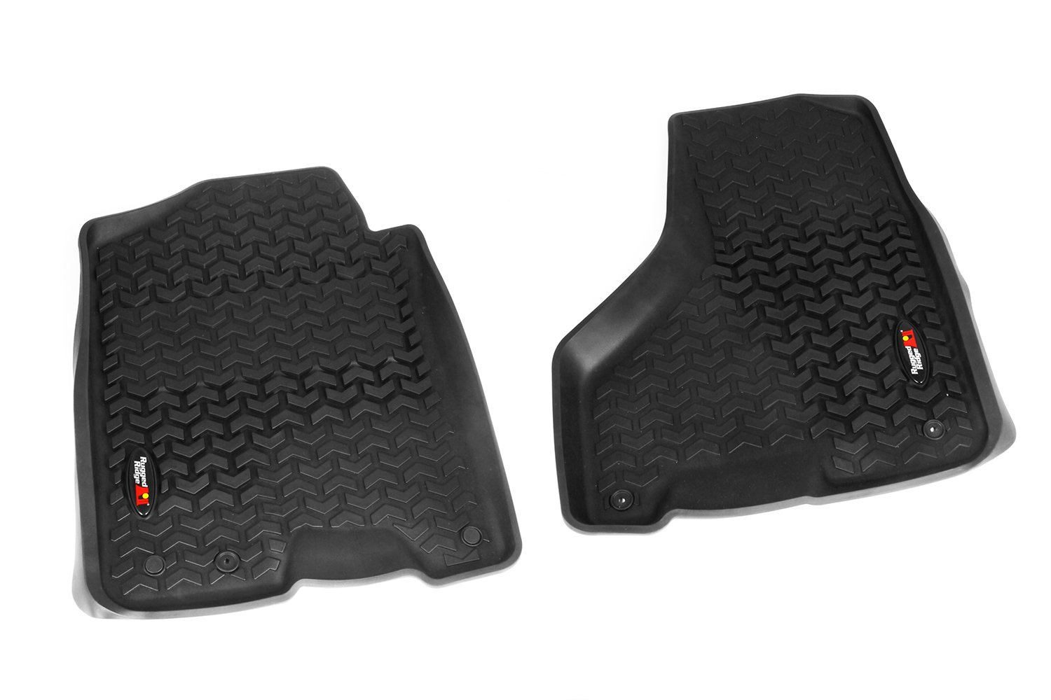 2500 and 3500 Models Rugged Ridge All-Terrain 82903.08 Black Front Row Floor Liner For Select Ram 1500