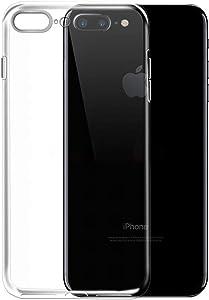 NEW'C Funda para iPhone 7 Plus y iPhone 8 Plus, Anti- Choques y Anti- Arañazos, Silicona TPU, HD Clara