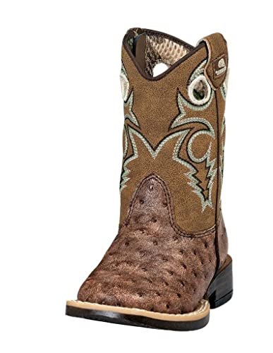 f4b09fed016 Amazon.com | Double Barrel Toddler-Boys' Brant Ostrich Print Boot ...
