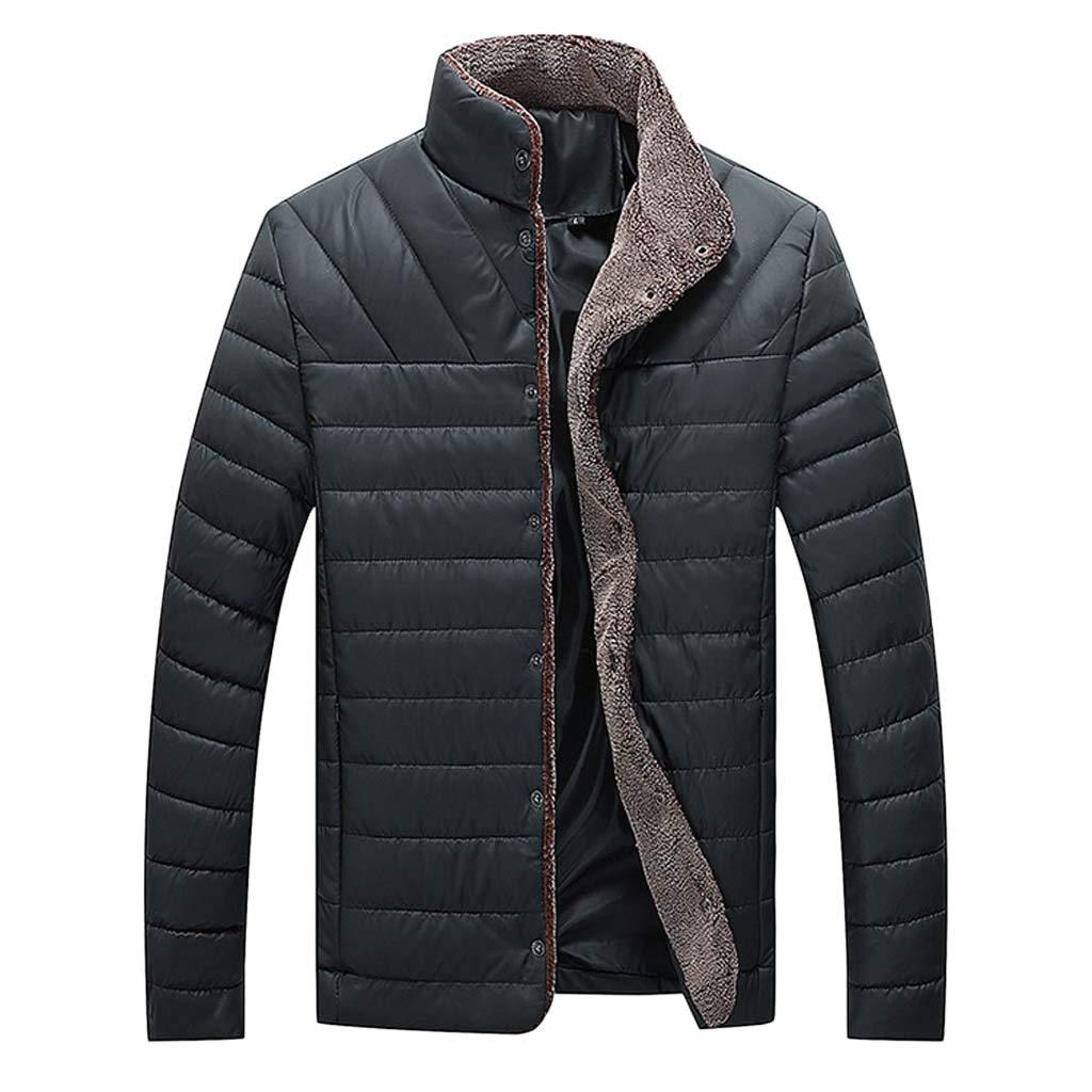 Men's Down Alternative Winter Jacket Coat Waterproof and Windproof Outdoor Jacket Long Sleeve Zipperr Warm Jacket Casual Outwear Tops by VEZARON