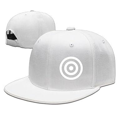 POOKOOL Adjustable Plain Hat Trucker Hat Unisex Men Women - Shoot Target -  White 69540825858