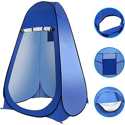 Laelr - Tienda de campaña plegable y portátil para el baño, para la ducha, para el cambiador, para la playa, para camping, senderismo, pesca, color azul