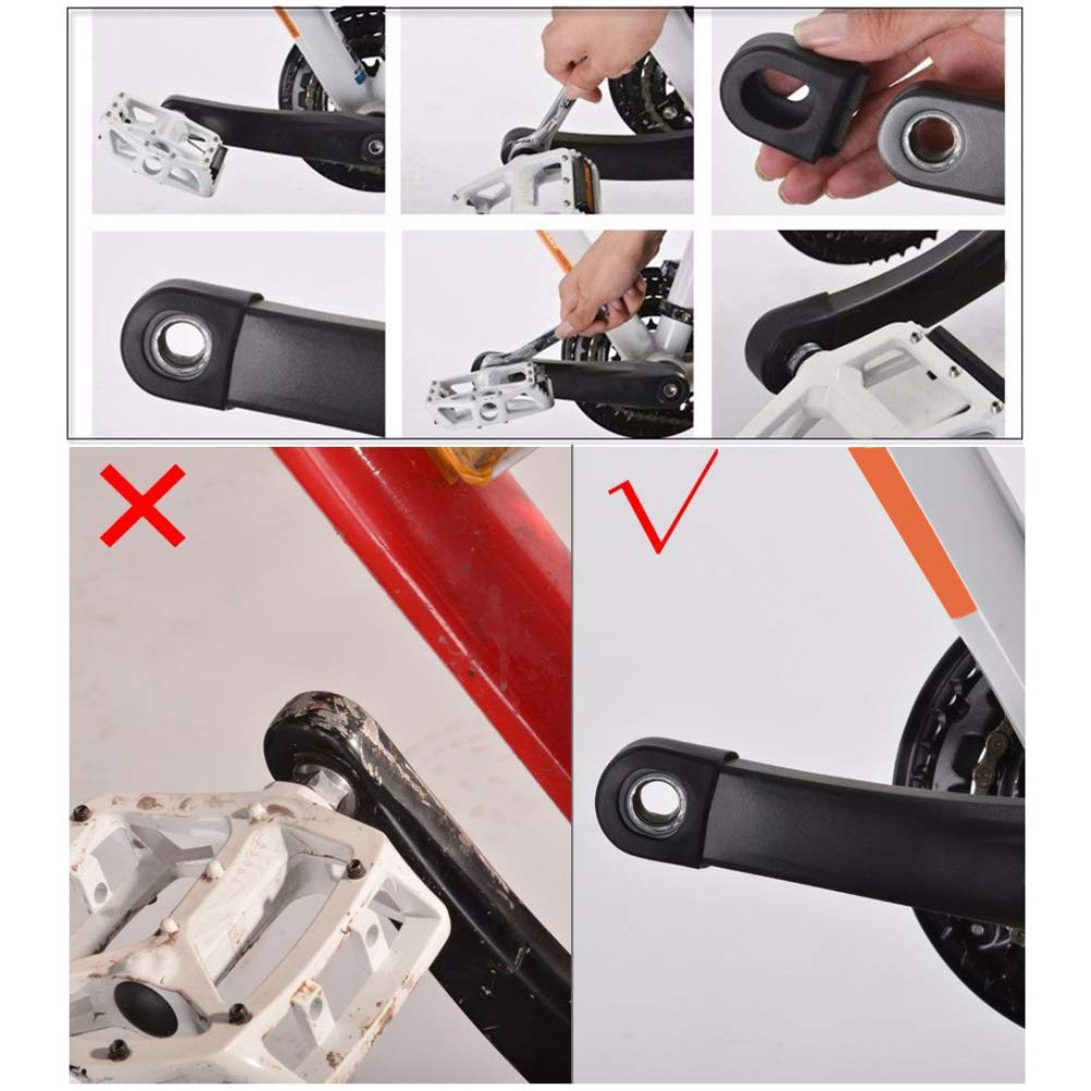 scatkinPYwl Color Negro MTB Botas Cadena 1 par de bielas Impermeables para Bicicleta Brazo