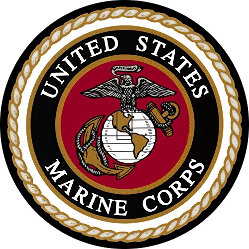 (United States Marine Corps Logo Spare Tire Cover with Back UP Camera Opening for Jeep Wrangler JL JLU 255/70r18 or 255/75r17(Select Popular Sizes from Drop Down menu or Contact us)