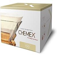 Chemex kağıt filtre FC-100, yuvarlak filtre, 6, 8 ve 10 fincan sürahisi için, 100 adet