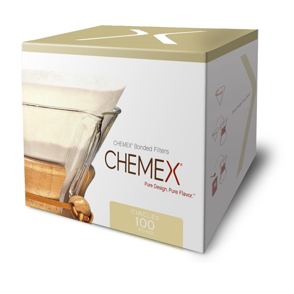 Chemex Bonded Coffee Filter, Circle, 100ct - Exclusive Packaging 61F2H6CcjFL