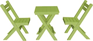 product image for Amish Poly Coronado Square Folding Bistro Set (Lime Green)