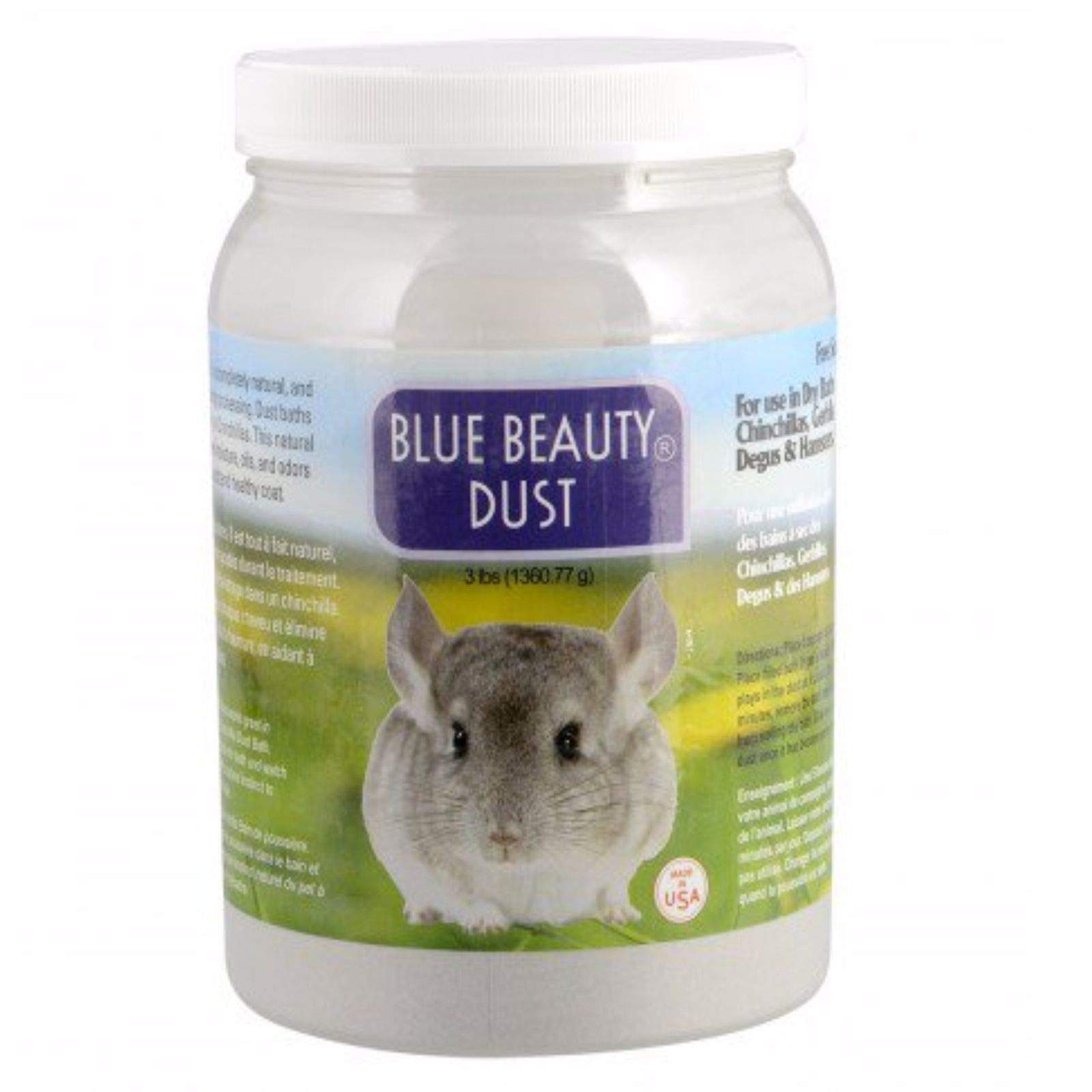 Lixit Blue Beauty Dust (3 lb) for Chinchilla Dry Bath Fine Aluminum Silicate