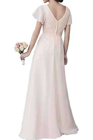 DressyMe Womens Chic Bridesmaid Dresses Prom Gown Sleeves: Amazon.co.uk: Clothing