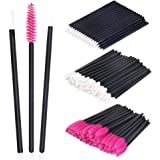 Disposable Makeup Applicators 150 Pieces SwanMyst Disposable Lipstick Applicators Mascara Wands Eyeliner Brushes Makeup Brush Kit