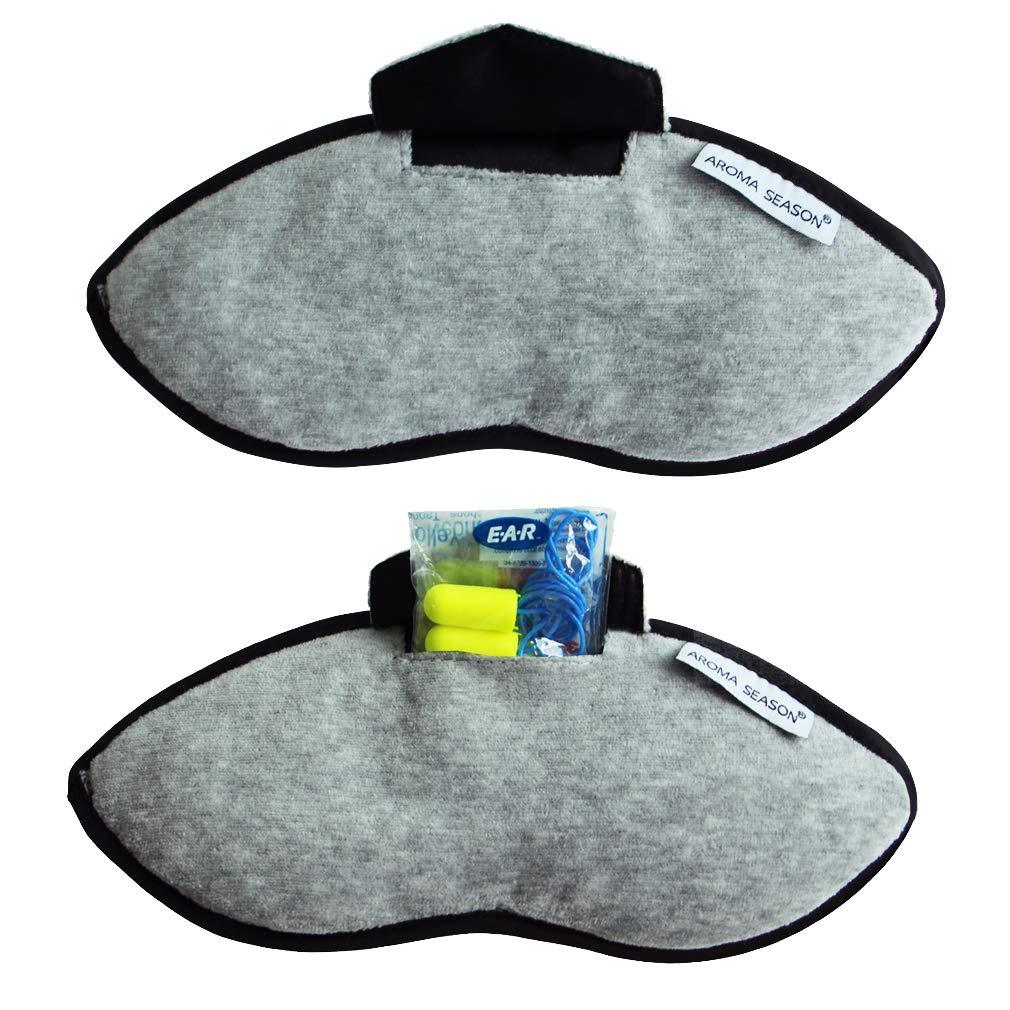 19 cm Multicolour Korbond Cotton Eye Mask and Ear Plugs Set Packing Organiser