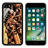 Luxlady Premium Apple iPhone 7 Aluminum Backplate Bumper Snap Case iPhone7 IMAGE ID: 26149252 Fragrant spices coffee and reed sugar on a wooden background