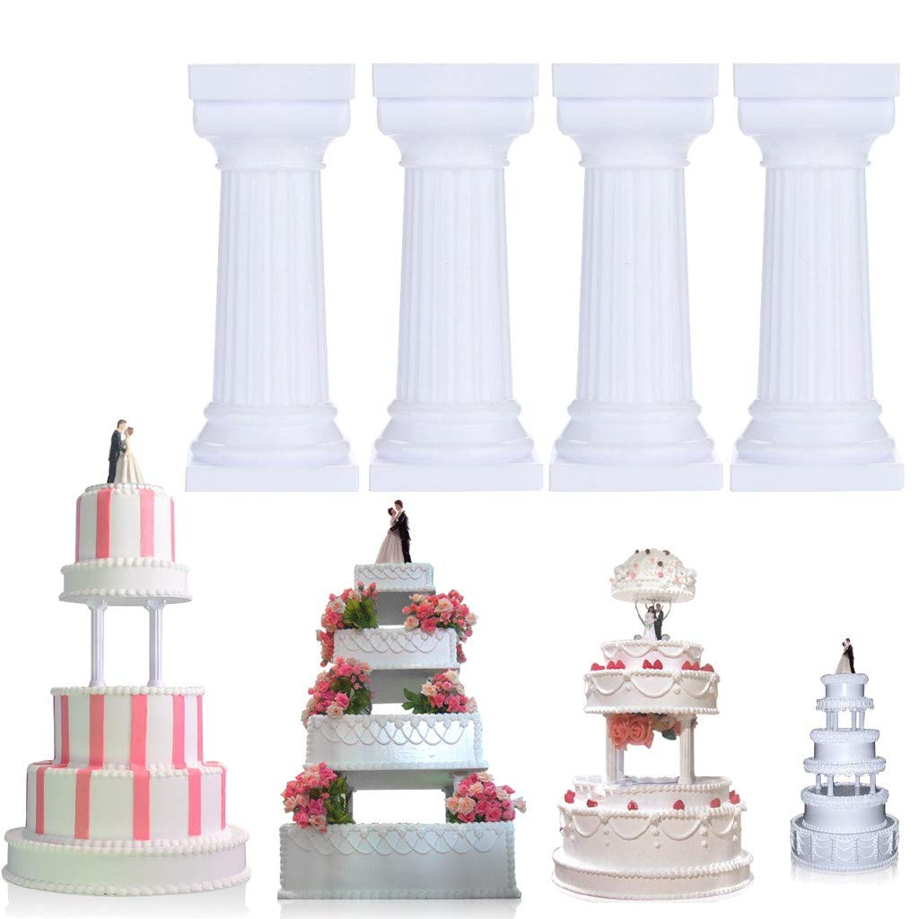 Pulison Cake Support Structure Frame Anti-Gravity Pouring Cake Stand Kit for Birthday Wedding Anniversary Party Reusable Standing Cake Decorating Armature Frame