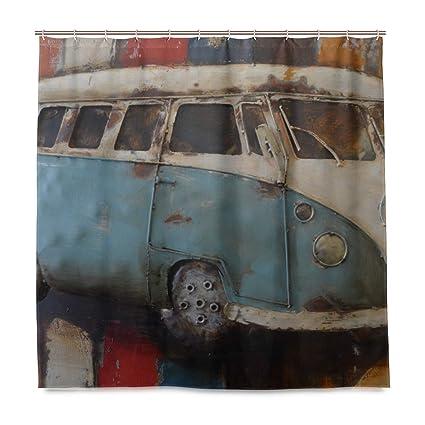 Amazon DNOVING Shower Curtain Car Art Painting Volkswagen