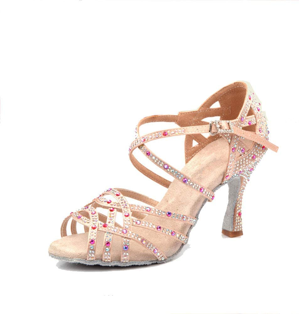 New Ladies Party Ballroom Latin Tango Salsa Dance Shoes Sandals 6cm Heels US5-9