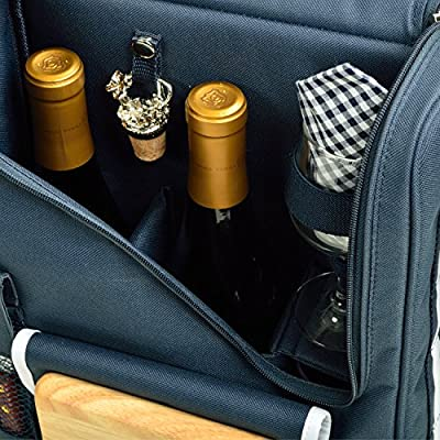 Picnic at Ascot Original Insulated Wine and Cheese Cooler with Glass Wine Glasses- Designed, Assembled & Quality Approved in the USA: Kitchen & Dining