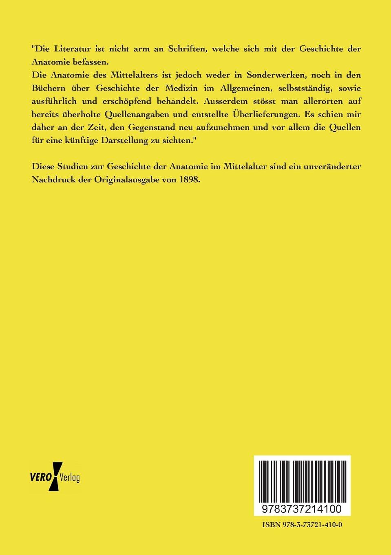 Studien zur Geschichte der Anatomie im Mittelalter: Amazon.de ...