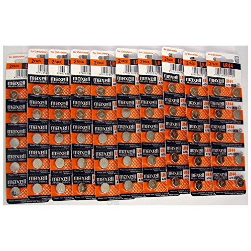 100 NEW LR44 MAXELL A76 L1154 AG13 357 SR44 303 BATTERY - D357 Car Charger