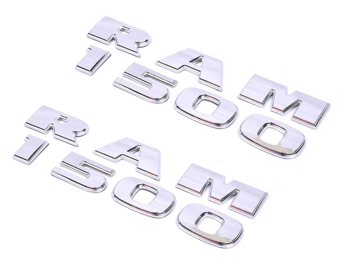 1pc Glossy Black Aimoll Dodge Ram 1500 Emblems Nameplate,3D ABS Stickers Decals Nameplates Auto Emblem Badge Decal for Dodge