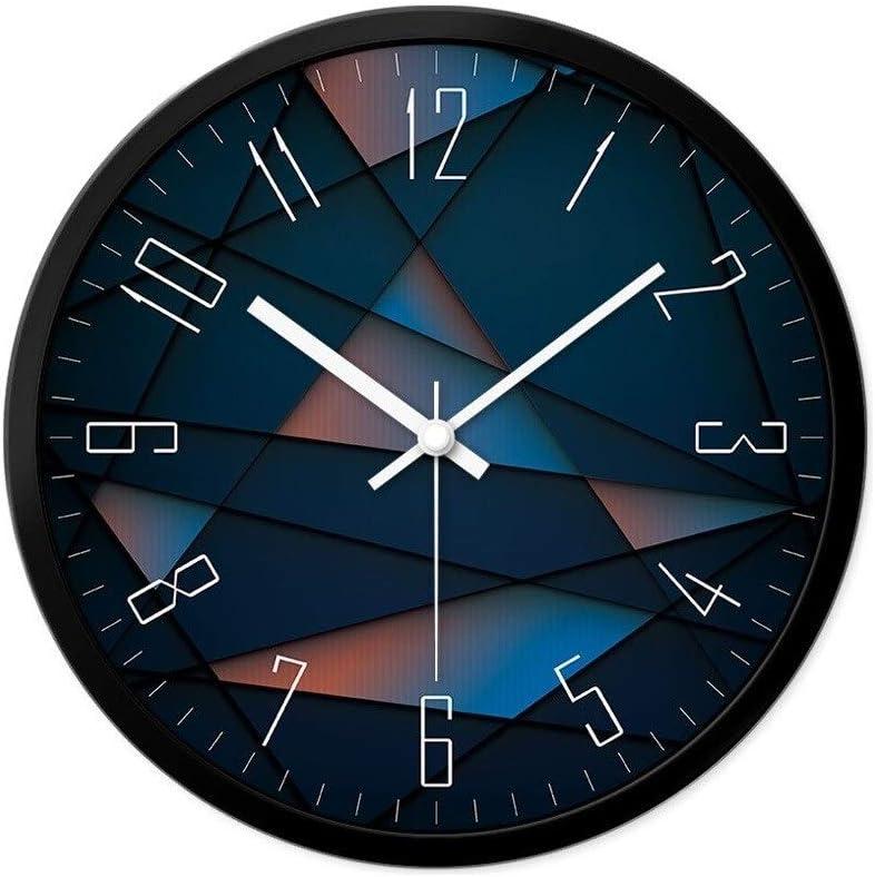 Jixi Sala de Estar sin marcar Reloj de Pared Creativo Reloj de Cocina Estudio Oficina Reloj de Pared Moderno Reloj de Cuarzo silencioso (Color : Blue-A, tamaño : 30CM)